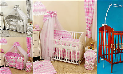 BABY/Cot(120x60)/Cot Bed(140x70) BIG CANOPY DRAPE/585cm Wide!!!+HOLDER/ROD/CLAMP