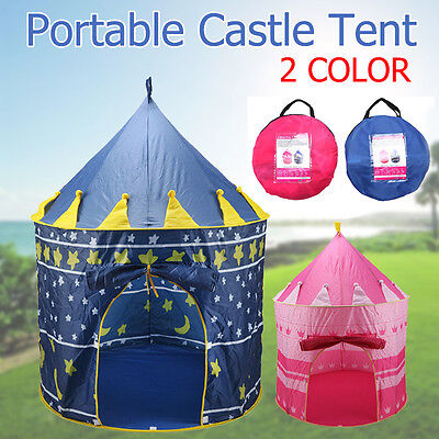 Kids Children Play Tent Castle Princess Prince Playhouse Indoor Outdoor Gift NEW