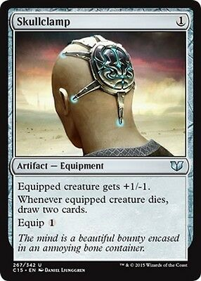Morsa Cerebrale - Skullclamp MTG MAGIC C15 Commander 2015 Eng/Ita