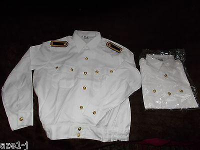 original Volksmarine  VM DDR Offizier Admiral ,General Uniform Hemd Bluse weiß