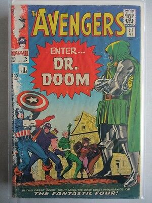Avengers Vol. 1 (1963-2004) #25 GD/VG With Doctor Doom UK Price Variant