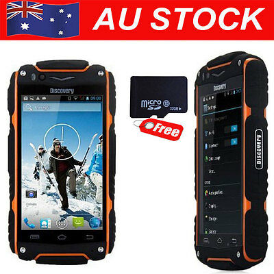 Rugged Phone Discovery V8 MTK6582 GSM Rugged Mobile Phone Android 32GB Orange