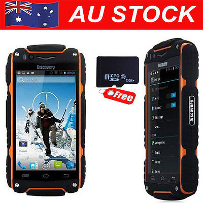 Rugged Phone Land V8 Rover MTK6582 GSM Rugged Mobile Phone Android 32GB Orange