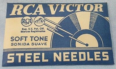RCA Victor Soft Tone Steel Needles Phonograph Needles - SEALED Pack of 100