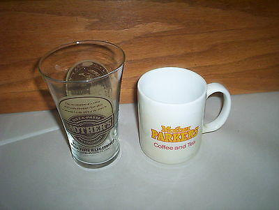 1986 Mother's Pizza Restaurant Soda Glass & Mother Parkers Coffee Tea Mug Lot