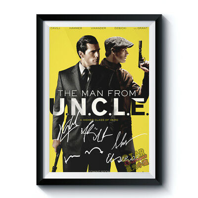 Autographed Poster THE MAN FROM U.N.C.L.E. Signed A3 Reprint UNCLE Movie 562001