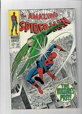 AMAZING SPIDER-MAN #64 Grade 8.0 Silver Age find featuring VULTURE!
