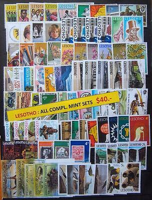 Lesotho 67 Different Mint Stamps All Complete Sets - Special Lot