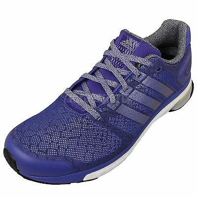 check out 54e44 eb5f8 ADIDAS NWB Adistar Boost Glow Womens7.5 Blue Running Shoes 88816488176