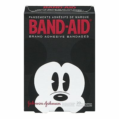 Band-Aid Children's Adhesive Bandages, Mickey Mouse Assorted sizes - 20 Each