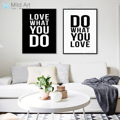 Motivational Love Quote Poster Modern Nordic Home Wall Art Decor Canvas Painting