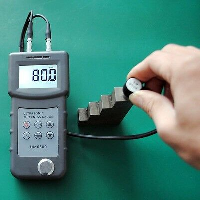 New Digital UM6500 Ultrasonic Thickness Gauge Tester Meter 1.0-245mm/0.05-8inch