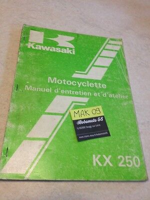 Kawasaki KX250 D1 250KX KX 250 revue technique manuel atelier workshop service