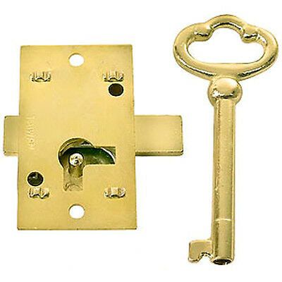 Small Surface Mounted Replacement Lock for Antique Furniture