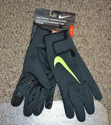 Nike Men's Sphere Training Gloves Anthracite Volt NWGB3-089 New Size Large