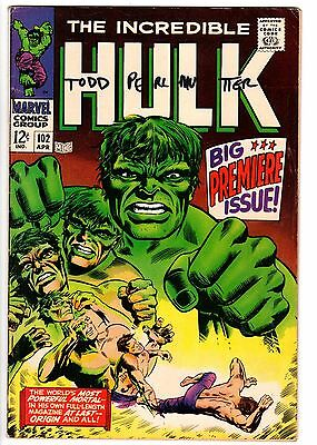 The Incredible Hulk #102 5.5-Origin of Hulk Retold-Silver Age Key