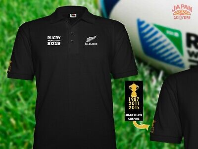 All Blacks polo shirt Rugby World Cup 2015 3rd world cup win New Zealand KiWi