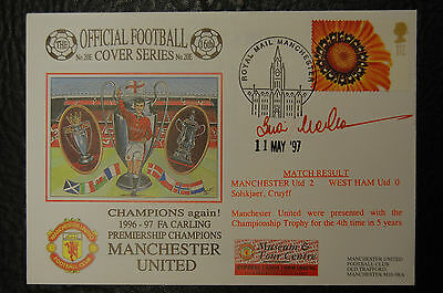 BRIAN McCLAIR  MANCHESTER UNITED SIGNED 1997 LEAGUE CHAMPIONS POSTAL COVER