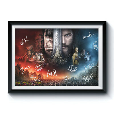 WARCRAFT Signed Poster A3 Reprint Game Movie Casts Autographed Fan Gift 674015