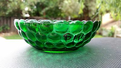 """Forest Green Bubble 5¼"""" Cereal Bowl - Fire King"""