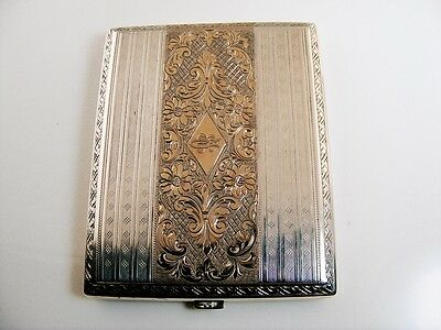 ANTIQUE RUSSIAN POLISH SILVER AND GOLD CIGARETTE CASE  ca.1889