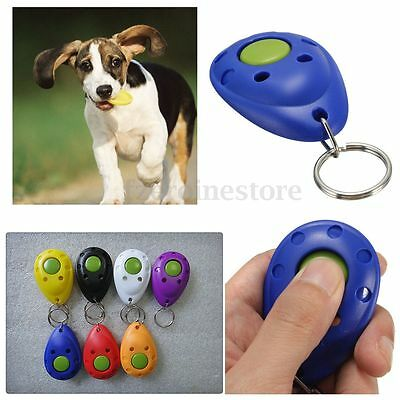 Pet Dog Puppy Cat Kitten Training Clicker Click Button Trainer Obedience Aid