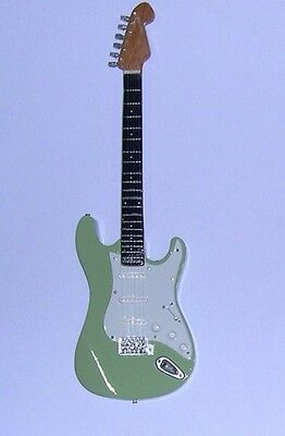 NEW High Quality Miniature Guitar & stand Stratocaster Jeff Beck Surf Green