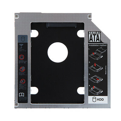 SATA 2nd HDD SSD caddy adapter for Laptops 9.5mm Optical Hard Drive Bay UK Stock