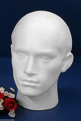 Gauranted High Quality Polystyrene Male Head For Headphones Hats Sunglass Caps