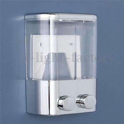 Double Wall Mount Soap Shampoo Shower Gel Dispenser Liquid Foam Lotion Bottle T