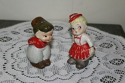 Vintage...ceramic....kissing Couple -Salt & Pepper Shakers- Japan