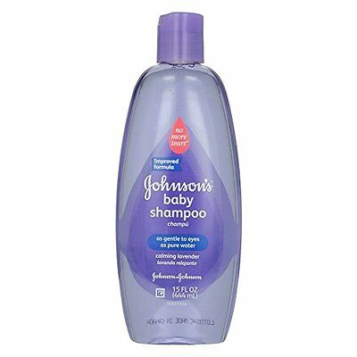 3 Pack - Johnson's Baby Shampoo With Natural Lavender 15oz Each