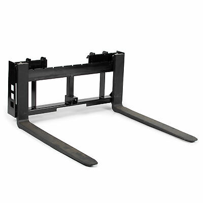 "Titan Skid Steer 42"" Pallet Fork & Trailer Hitch Attachment Bobcat Case Kubota"