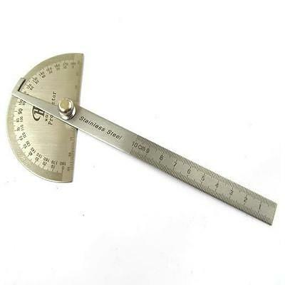 Professional Stainless Steel Protractor with Angle Ruler Measuring Instrument