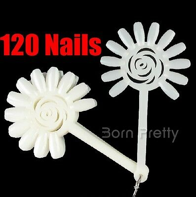 10Pcs Faut Nail Art Display exposition Rosette Practice contient 120 ongle Tips