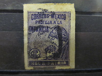 A2P22 MEXICO POSTAL TAX STAMP 1929 1c USED