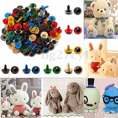 100pcs 14mm Plastic Safety Eyes For Animal Puppet Popul  Craft Teddy Bear Doll