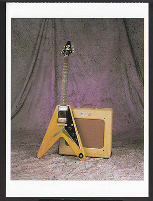 1958 GIBSON FLYING V Guitar Picture POSTCARD CARD