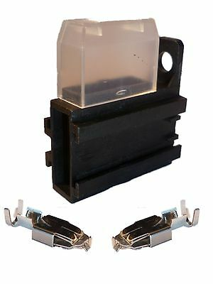 2 x Bulkhead Standard Blade Fuse Holders Fuseholders + Covers + Terminals