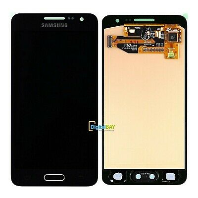 Lcd Display + Touch Service Pack Nero Originale Samsung Galaxy A3 SM-A300