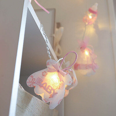 1.5M Pink Baby Shower Gift Party Home Girl Bottle Fairy String Lights, 10 Leds