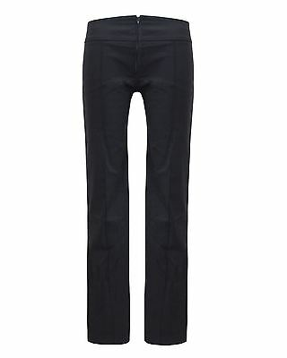 Ladies Womens Stretchable Office Pant Back To School Girls Black Hipster Trouser