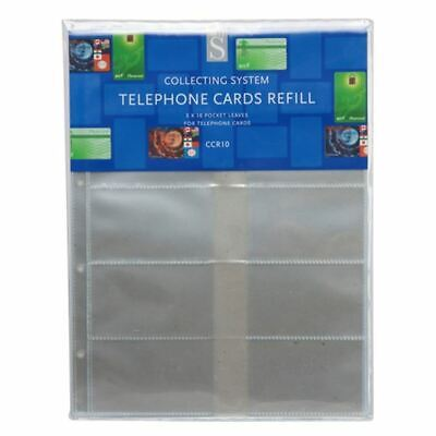 WHSmith CCR10 Collecting System Telephone Cards Refills 10 Pocket Pack Of 5