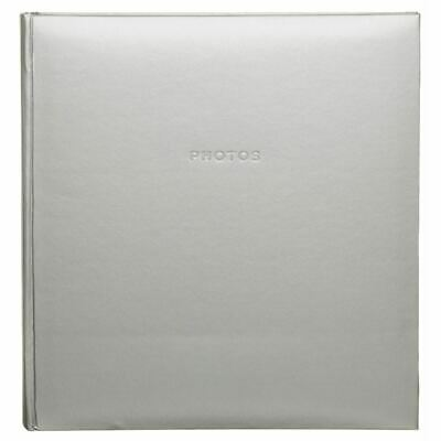 "WHSmith Silver Photo Album Case Bound 28 Double-Sided Leaves Fit 168 6x4"" Photos"