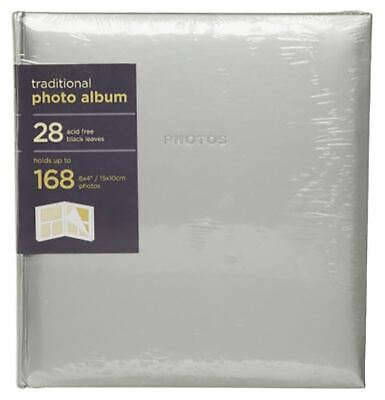 WHSmith Silver Photo Album 28 Traditional Leaves Case Bound Holds 168 Pictures
