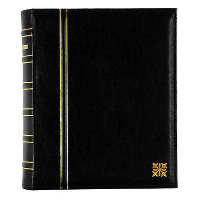 Ultimate Combination Large Refillable Slip-In Photo Album Black Leather Effect