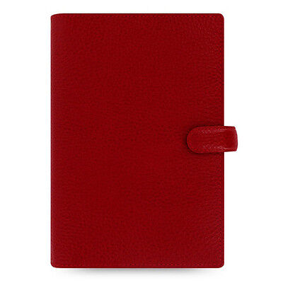 Filofax Finsbury Personal Organiser Red Leather With Week On Two Pages Diary