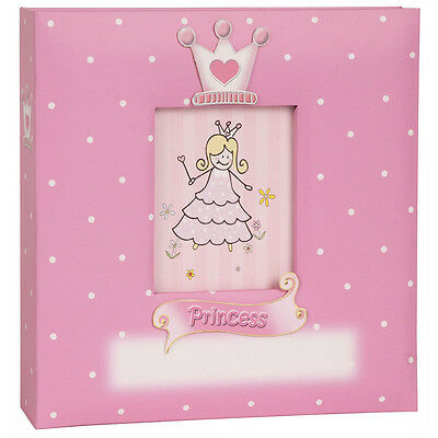 "Innova Princess Pink Baby Slip-In Photo Album 50 Leaves Hold 200 6x4"" Photos"