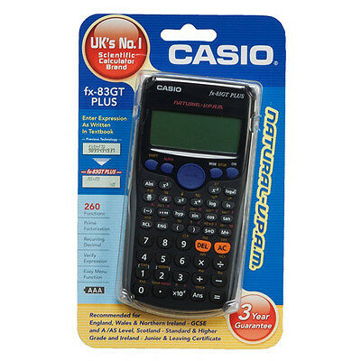 Casio FX-83GT Plus Full Scientific Calculator 260 Functions GCSE A Level Exams