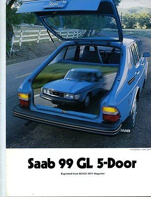 1977 Saab 99 GL 5-Door Roadtest Brochure my6315